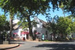 Cape Dutch building of Stellenbosch Hotel est. 1876. After Cape Town Stellenbosch City of Oaks or Eikestad is the second oldest town in South Africa. shutterstock 1493146079