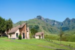 aha Alpine Heath Resort Drakensberg mountain distance