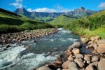 Amphitheater and Tugela river Drakensberg mountains Royal Natal National Park South Africa shutterstock 241577872
