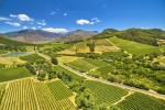 Franschoek winelands and mountain countryside South Africa v2