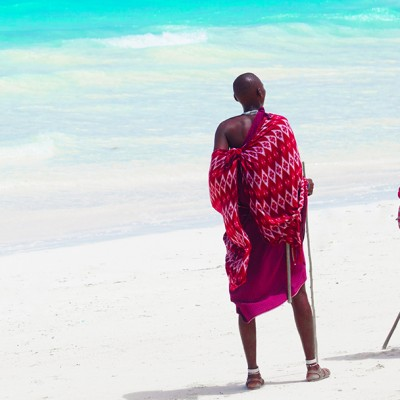 Maasai on the beach