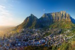 Panoramic view of Cape Town Table Mountain