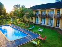 Elephant Lake Hotel pool and garden view