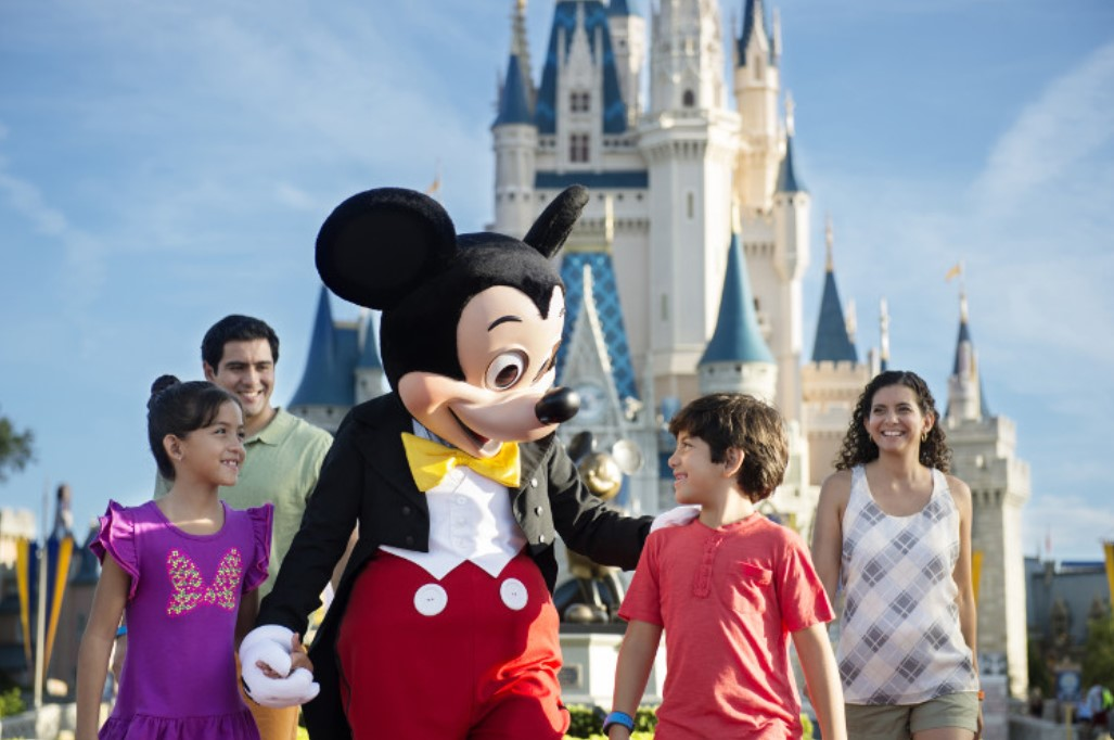 Disney's Magic Kingdom Park - Mickey Mouse and children
